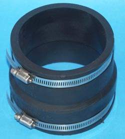 "Fernco Coupling 8"" to 6"" coupling"