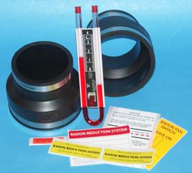 "Radon fan installation kit 4"" X 3"""