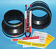 "Radon fan installation kit 6"" X 4"""