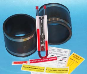 "Radon fan installation kit 3"" X 3"""