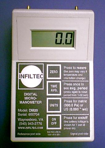 Infiltec DM1 Micro Manometer