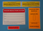 Radon Mitigation System Label Kit